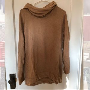 Soft Tan Cowl Neck Top / Sweater